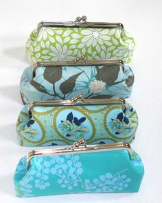 Bridesmaid clutches, by ModDotTextiles
