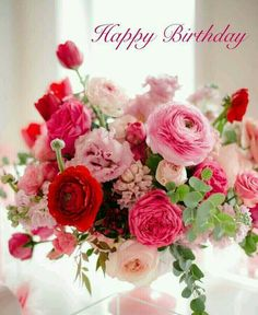 Birth Day QUOTATION – Image : Quotes about Birthday – Description Happy Birthday bouquet Sharing is Caring – Hey can you Share this Quote ! Rosen Arrangements, Floral Arrangements, Wedding Arrangements, Wedding Centerpieces, Wedding Bouquets, Wedding Flowers, Centerpiece Ideas, Pink Flower Centerpieces, Flower Decorations