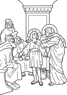 Image The Presentation Of Our Lord In Temple Catholic Coloring