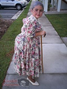 Granny-Brienne dressed up like Mama in the 5th grade.