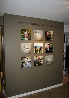 Pictures without frames - Decor on gray walls