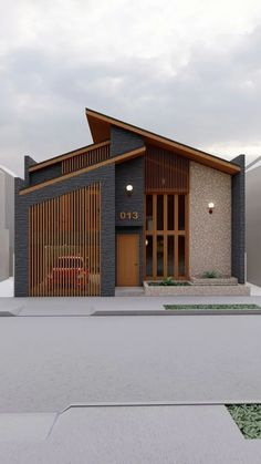 Minimal House Design, Small House Design, Cool House Designs, Modern Exterior House Designs, Dream House Exterior, Modern Roof Design, House Layout Plans, House Layouts, Casas The Sims 4
