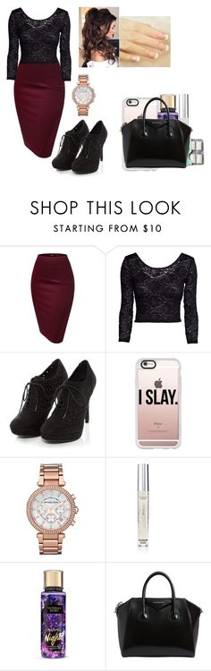 """""""I'm here for Applause"""" by chanel-xoxo123 on Polyvore featuring H&M, Casetify, Michael Kors, Victoria's Secret and Givenchy"""