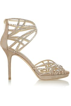 Dina crystal-embellished suede sandals by Jimmy Choo - Found on HeartThis.com #HeartThis