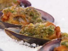Mussels Oreganata recipe from Giada De Laurentiis via Food Network