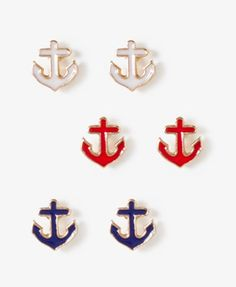 Forever 21 anchor stud set - $2.80 . cute set of nautical earrings