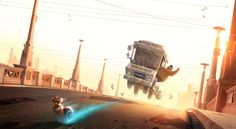 TURBO (2010) Photoshop Dreamworks Animation Visual development painting, the layout was done by Michael Isaak.