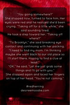 #fictionfriday #redh