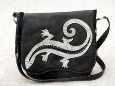 Hand stittched leather handbag California by Ruth007 on Etsy, $325.00