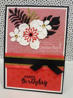 HAPPY HEART CARDS: STAMPIN' UP! WATERMELON WONDER BOTANICAL BIRTHDAY CARD #2