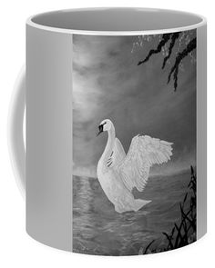 Swan Coffee Mug featuring the painting Lake Dancer by Faye Anastasopoulou Mugs For Sale, Swan, Coffee Mugs, Dancer, Ceramics, Artist, Painting, Collection, Hall Pottery