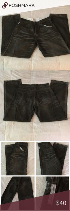 ❗️SALE! Armani Exchange pants Men's size 31 Regular Armani Exchange pants - material = 100% cotton. Very soft material, softer than your typical pair of jeans! Dark gray color with fashionable crease pattern throughout. Two front pockets, two back pockets, in-tact belt loops, and multi-button closure. Used but in good condition! A/X Armani Exchange Pants Chinos & Khakis