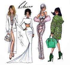 Hayden Williams Fashion Illustrations: Congratulations CFDA Fashion Icon Rihanna!