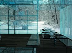 "this entire ""snow house"" and almost everything in it is made of glass! not really my style but incredible and beautiful nonetheless. from ignant.de"
