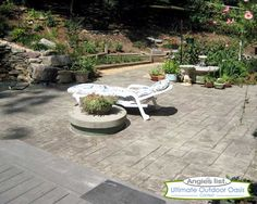 Stamped concrete ideas. Enter to win your dream backyard here: https://www.facebook.com/angieslist/app_120860451431022