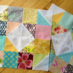 I love these quilt blocks from Miss Print.