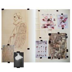 Fashion Sketchbook - fashion illustration & weaving samples; fashion portfolio // Margorzata Maria Pabian