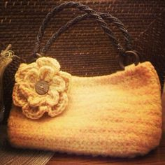 Crocheting Gone Wrong : Crochet basket gone wrong became felted purse gone right!