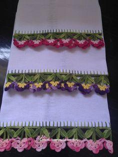 Irish Crochet Patterns, Crochet Lace Edging, Crochet Borders, Lace Patterns, Baby Knitting Patterns, Crochet Designs, Crochet Doilies, Crochet Home, Knit Or Crochet