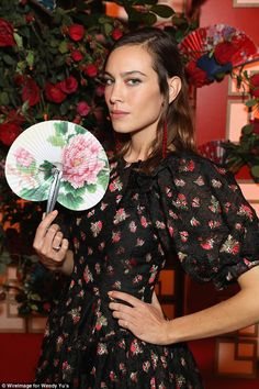 Alexa Chung showcases her style flair in floral dress | Daily Mail Online