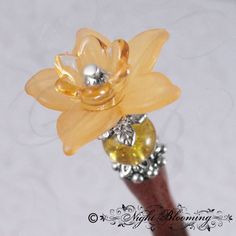 Primrose Faerie Passage Hair Stick Amber by NightBlooming on Etsy