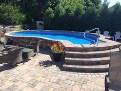 Semi inground Radiant Metric pool