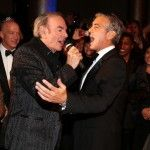 George Clooney Sings 'Sweet Caroline' With Neil Diamond at Fundraiser [VIDEO]