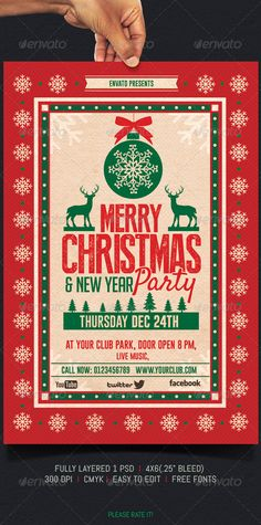 20 awesome Christmas poster and Christmas background will be shared for inspiration to make design by yourself. In the special occasion of Christmas, all Christmas Party Poster, Christmas Invitations, Christmas Night, Xmas Party, Christmas And New Year, Party Invitations, Invite, Christmas Ideas, Christmas Flyer Template