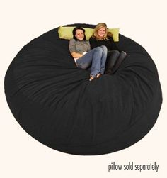 Large Bean Bag Chair -  8 ft Sack Micro Suede Black. Mix the room with some sacks and chairs!