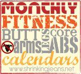 Shrinking Jeans Monthly Fitness Calendars