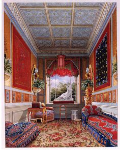 Moika Palace. Persian chambers of the princess, watercolor by AA Redkovskogo, 1865
