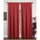 Elrene Window Treatments, Imperial Collection. These drapery panels have amazing detail for the price, with buttons and inverted pleats. They are narrow which is perfect for your living room.