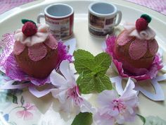 Fiodourado2: Passo a passo – Cupcake de feltro