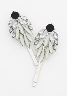 Winning in Wings Hair Pin Set. Your look really takes off once you adorn your locks with these glimmering wing-shaped hair pins. #silver #modcloth