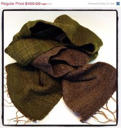 ON SALE now Handwoven scarf/ ultra soft selection of fibers by Jackpie