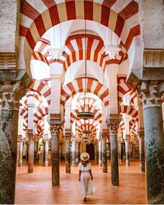 credit Ancient Moorish perspectives in the Cathedral-Mosque of Cordoba. Ancient moorish perspectives in the Mosque-Cathedral of Cordoba. Cordoba Andalucia, Andalucia Spain, Nerja Spain, Malaga, The Places Youll Go, Places To Go, Seville Spain, Spain And Portugal, Spain Travel