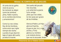 MISIONEROS DE LA PALABRA DIVINA: HIMNO LAUDES - AL CANTO DE LOS GALLOS