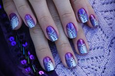 Great nails art design in purple