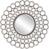 """Cooper Classics Vernon 38"""" Sunburst Metal Wall Mirror"""