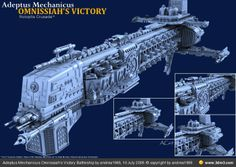 Adeptus Mechanicus Omnissiah's Victory Battleship by andrea1969 - Community for CG Artists