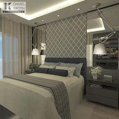 Dormitório do Casal por #DanielKrothArquitetura