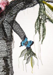 #ButterflyRainforest #wirecrochet #artinstallation #studiodeanna #fiberart #CairnsBotanicGarden #crochet #fibreart #coloredcopperwire #firemtngems #crochetwire