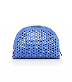 Loeffler Randall Small Perforated Leather Cosmetic Case