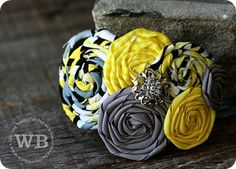 Ribbon flower hair band