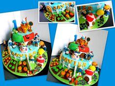 Smurfs Cake - village