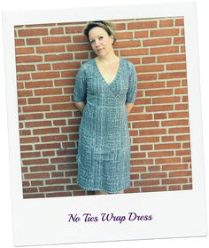 1 pattern - many looks. The simplest design change to make to your Rachel dress is to make a faux wrap version. I'll show you how: