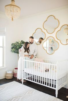 Baby Nursery with Gold Accents