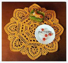 Crochet Doily Pattern Gold Doily A-994 Thread Crochet by patscraftsshop