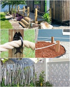 If your home needs a fence, be it a deck fence, a yard fence or a border fence, here are some ideas for coastal style living. Rope Fence, Diy Fence, Coastal Style, Coastal Decor, Fence Styles, Diy Shops, Backyard Paradise, Beach Gardens, Decks And Porches