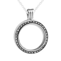 925 Sterling Silver Floating Petites Locket Necklace with Pendant for Women Diy Fandola CKK Necklaces Pendants. Click visit to buy #FineJewelryPendant #Jewelry #Pendant